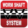 Бесконечный винт. Система выполнена на основе перекрёстно-шнековой червячной передачи, которая осуществляет оптимальную укладку лески на удлинённых шпулях, предназначенных для дальних и точных забросов.